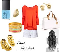 Summer in Yellow, created by peachesbabe14 on Polyvore