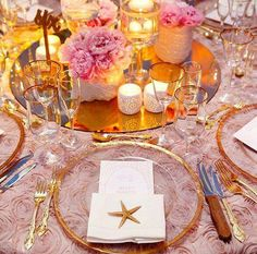 Colin Cowie / Dinner Parties / Weddings / Place Settings / Beach Themes