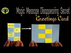 MESSAGE DISAPPEARING SECRET | MAGIC CARD - DIY Tutorial by Paper Folds ❤️ - YouTube