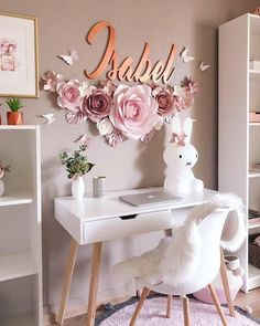 39 fabulous pink girls bedroom ideas to realize their dreamy space 15 - Oriel D. 39 fabulous pink girls bedroom ideas to realize their dreamy space 15 - Oriel D. 39 fabulous pink girls bedroom ideas to realize their dreamy space 15 - Large Paper Flowers, Paper Flower Wall, Flower Wall Decor, Wall Flowers, Butterfly Wall Decor, Flower Backdrop, Flower Mirror, Flowers Decoration, Pink Bedroom For Girls