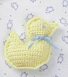 We love this super cute crochet duck toy :) Perfect for a little prince or princess! http://www.joann.com/-duck-toy-crochet/prod1633153/