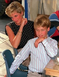 Princess Diana with little Prince William