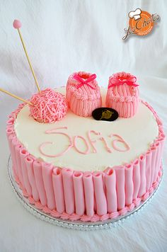 Pastel Baby Shower Nena #cake #babyshower #puertovallarta Loschatos.com