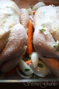 Ina Garten's Perfect Roast Chicken With A StoneGable Twist - StoneGable Food Network Recipes, Wine Recipes, Cooking Recipes, Ina Garten Roast Chicken, Perfect Roast Chicken, Twisted Recipes, Roasted Chicken Breast, Chicken Wing Recipes, I Foods