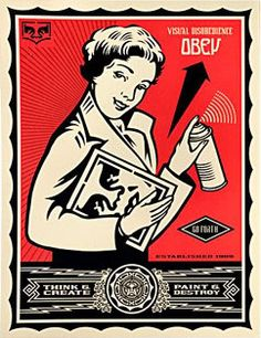 Shepard Fairey Obey Stay Up Girl Poster Print Graffiti Street Art