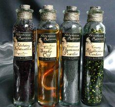Potion bottles thirteen ravens elements collection for Halloween medicine bottles