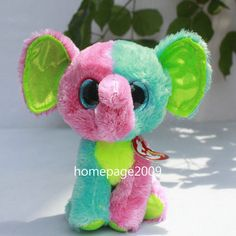 "IN HAND NEW!TY BEANIES BOOS 2014 STUFFED~Justice ~ Elfie the Elephant ~6""~ ! #Ty"
