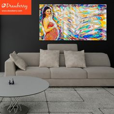 Personal hand-painted canvas as a home decor element Picture To Canvas Painting, Family Painting, Woman Painting, Hand Painted Canvas, Cherished Memories, Canvas Pictures, Group, Board, Artwork