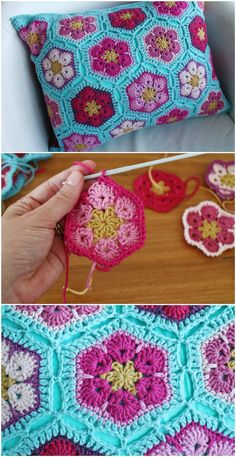 Transcendent Crochet a Solid Granny Square Ideas. Inconceivable Crochet a Solid Granny Square Ideas. Crochet Pillow Cases, Crochet Pillow Patterns Free, Crochet Cushions, Granny Square Crochet Pattern, Crochet Flower Patterns, Crochet Motif, Crochet Designs, Crochet Squares, Free Crochet