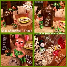 Our Irish Breakfast Table....just a wee bit o'fun from Pine Creek Style