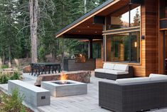 Mountain Modern Digs - contemporary - Patio - Sacramento - Ward-Young Architecture & Planning - Truckee, CA