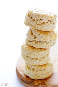 3-Ingredient Coconut Oil Biscuits | gimmesomeoven.com - vegan breakfast idea - dairy free