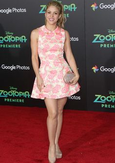 Shakira Is Pretty In Pink At Zootopia Premiere