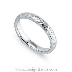 DesignBands.com :: White Gold :: Wedding Band Style: 3005-08-W-3mm
