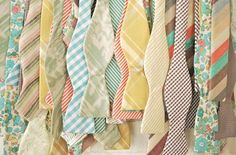 The guys could wear bowties like these... All different colors and patterns.