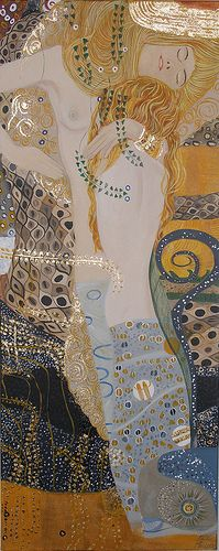 Water Nymphs after Gustave Klimt, for more please visit http://www.painting-in-oil.com/artworks-Klimt-Gustave-page-1-delta-ALL.html
