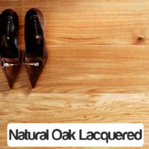 Tuscan Natural Oak Lacquered 1-Strip Engineered Wood Flooring