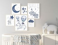 This type of boy nursery is unquestionably a remarkable design construct. Baby Boy Nursery Decor, Star Nursery, Boys Room Decor, Baby Boy Rooms, Nursery Wall Art, Elephant Nursery Boy, Blue Nursery Ideas, Nursery Room, Boy Wall Decor