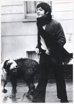 Paul McCartney with Martha. 1960s