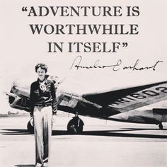 have this as a magnet, too, and it's my favorite. A good everyday reminder to take chances and enjoy life. Amelia Earhart and adventure Amelia Earhart Quotes, Definition Of Life, Aviation Quotes, Aviation Art, Wanderlust Quotes, Travel Quotes, Marie Curie, People Of Interest, Dream Quotes