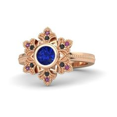 Snowflake Ring (€1.650) ❤ liked on Polyvore featuring jewelry, rings, accessories, 14 karat gold jewelry, 14 karat ring, snowflake ring, handcrafted rings and round ring