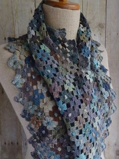 """""""Hydrangea"""" linen scarf 