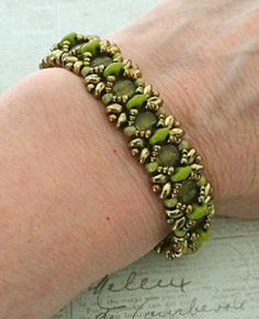 Linda's Crafty Inspirations: Bracelet of the Day: Dragonfly - Olive Green