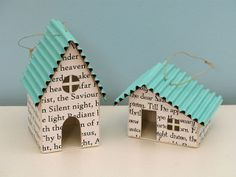 House Ornaments by PatchworkPottery, via Flickr