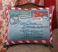 Tara Badcock BICHENO POST new work Dec 2012-Aerogramme cushion | Flickr - Photo Sharing!