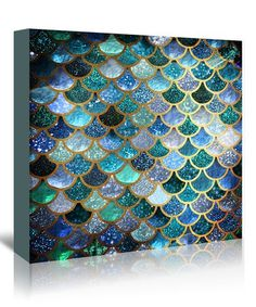 This Grab My Art Blue & Green Mermaid Fish Scales Wall Art is perfect! #zulilyfinds