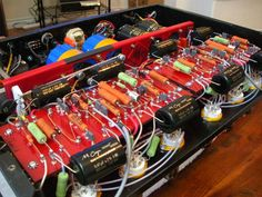 My own complete redesign and custom built boards and power supply for the HK Citation II tube amplifiers.  -K