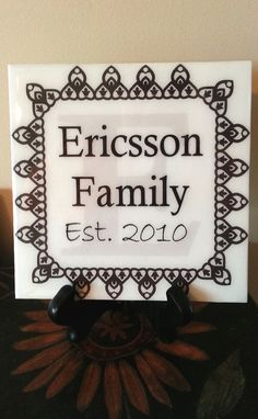 Check out this item in my Etsy shop https://www.etsy.com/listing/108219874/personalized-family-wall-art-family-name