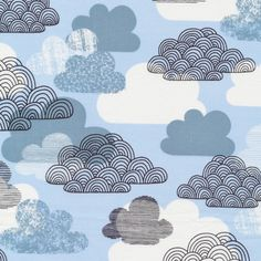Passing Clouds | Blue from Bark | Cloud 9 Fabrics