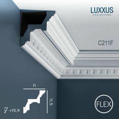 Orac Decor C211FLUXXUS Flexible Cornice Moulding Ceiling Coving Decoration 2 m