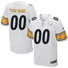 Men s Customized Elite White Nike Pittsburgh Steelers NFL Jersey Authentic  Steelers Shop 30034969a