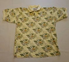 Mens World Wide Sportsman Floral Hawaiian Fishing Polo Shirt XL 100% Cotton #167 in Clothing, Shoes & Accessories, Men's Clothing, Casual Shirts | eBay