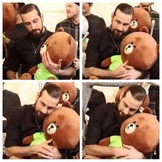 Never knew I needed a picture of Avi hugging a stuffed animal until now. My Big Love, My True Love, Pentatonix Avi, Scott And Mitch, Sensitive Men, Scott Hoying, Mitch Grassi, Best Fan, Having A Crush