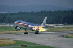 boeing 777 american airlines engine fire