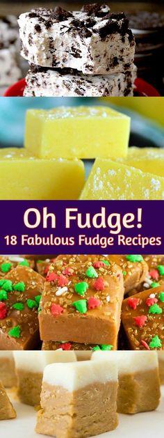 Oh Fudge! 18 Fabulous Fudge Recipes for Christmas Fudge Recipes, Chocolate Recipes, Candy Recipes, Christmas Desserts, Christmas Cookies, Fun Desserts, Dessert Recipes, Dessert Food, Dessert Ideas