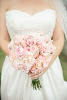 pink and white rose bouquet - Click here to view more from this wedding on @J Stanton Bride! Wedding, photographer, Knoxville, Chattanooga, Tennessee wedding, pink bouquet, bride