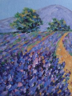 painting-lavender fields