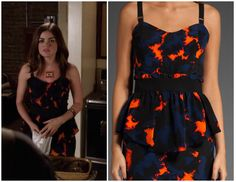 Shop Your TV: Pretty Little Liars: Season 3 Episode 11 Aria's Black and Red Dress