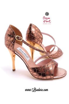 Comme il Faut Croco Bronce  Beautiful Dancing Shoes for Tango, Salsa and Bachata. New Collections Every Month at Lisadore!