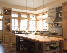 Contemporary Kitchen Kitchens With Light Wood Cabinets Design, Pictures, Remodel, Decor and Ideas - page 5