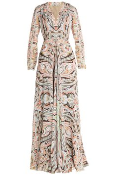 Etro - Printed Silk Jersey Maxi Dress