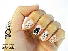 French Bulldog Nail Sticker van JsUtopia op Etsy