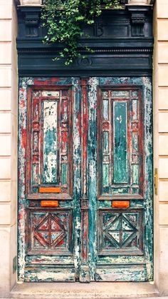 Paris, France - There's something about old, wooden, faded, HUGE doors. (Cool Photography Old)