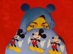 """Saatchi Online Artist Keyvan Heydari; Painting, """"Cover up Mickey Mouse"""" #art"""
