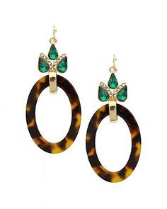 Tortoise shell earrings.
