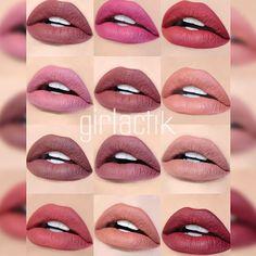 Escoge tu tono favorito de #Labiales #Girlactik #Beauty #Lipstick